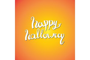 Happy Halloween lettering greeting