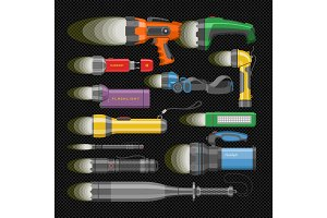 Flashlight vector flash-light
