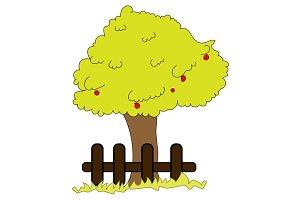 Huge Fruit Tree Illustration