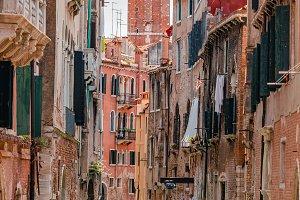 Quiet, serene waterways in Venice