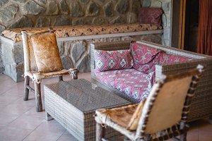 Peaceful, Ethiopian Outdoor Patio