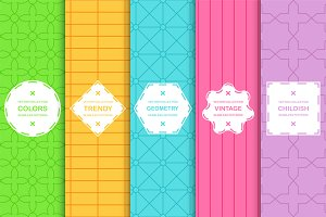 Seamless color geometric patterns