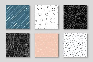 Creative seamless minimal patterns