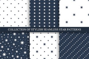 Simple seamless stars patterns