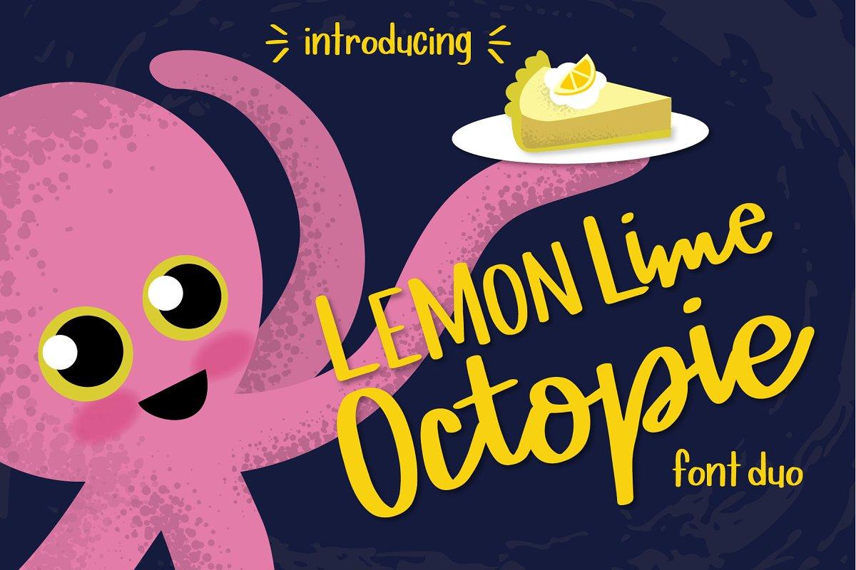Lemon Lime Octopie Font Duo