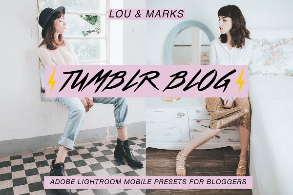 Actions: LOU&MARKS - Tumblr Blog Mobile Presets