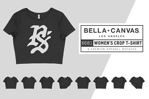 Bella Canvas 6681 Women's Crop Tee