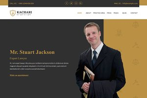 Kachari - Lawyer Bootstrap4 Template