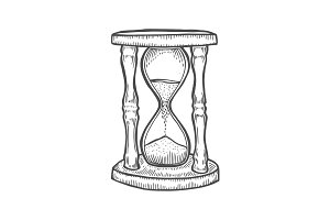 Hourglass illustration drawing