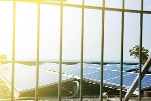 Solar power station new energy panel