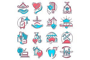 Insurance icon vector life or health