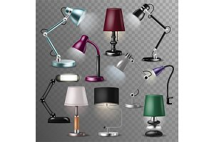 Table lamp vector desklamp and