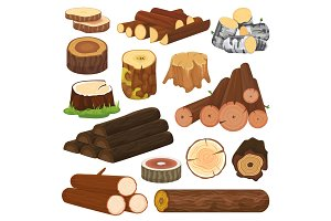 Log vector tree lumbers or logging