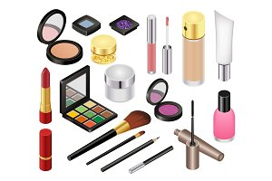 Cosmetic vector beauty make up