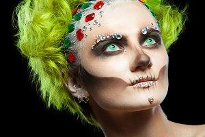 Halloween. Portrait of young