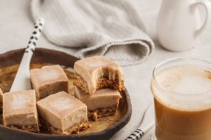 Raw coffee fudge bars.
