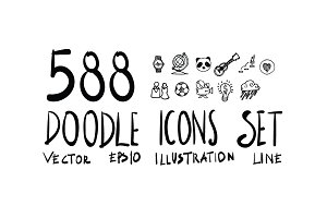 588 Hand Drawn doodle Icon