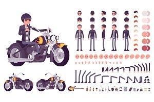 Cool rocker character creation set