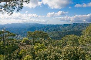 Stunning panoramic mountain view