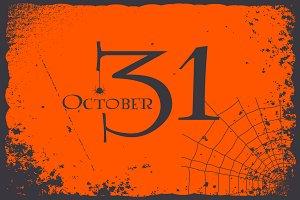 Halloween 31 October vintage card