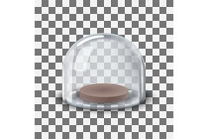 glass Dome transparent