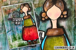18 Procreate Art Journal Doll Stamps