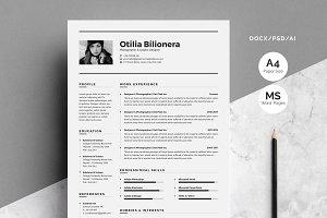 Resume/CV-Otilia Bilionera