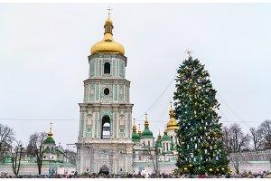 Christmas tree and Saint Sophia