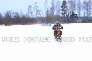 Winter motorcycle race.