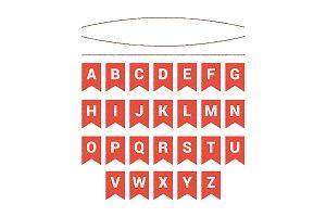 Vector alphabet on flags
