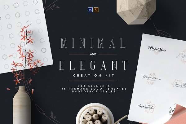 Logo Templates: VPcreativeshop - Minimal and Elegant Creation Kit