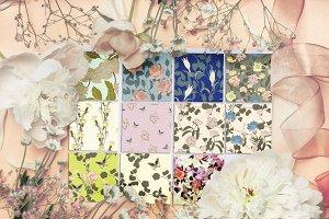 11JPG/EPS Tropical floral pattern