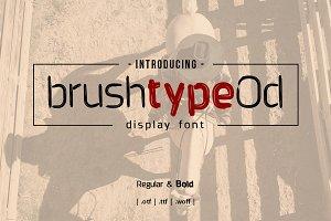 Brushtype Od Font