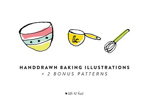 15 Handdrawn Baking Illustrations