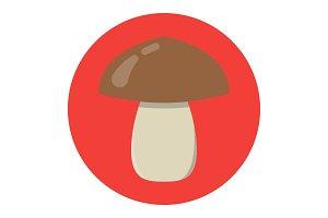 Mushroom flat icon