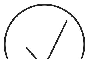 Check stroke icon, logo illustration