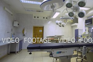Interior of operating room.