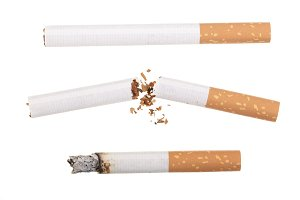 cigarette isolated on white