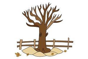 Autumn Tree Illustration Design