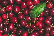 Fresh sweet cherry texture by  in Food & Drink