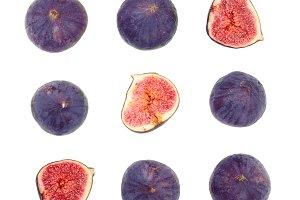 fig fruits isolated on white