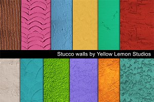 Stucco wall backgrounds