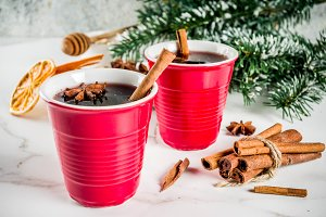 Mulled wine cocktail