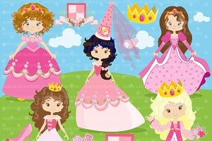 Princess in Pink Clipart AMB-892