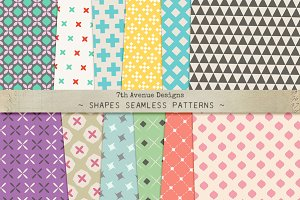 Shapes Seamless Patterns