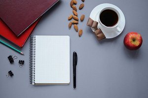 Stationery. Food for brain