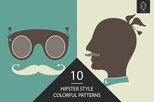 Hipster style vector object set