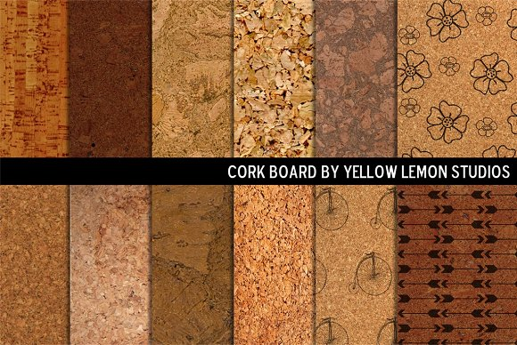 Decorative Cork board backgrounds ~ Textures ~ Creative Market