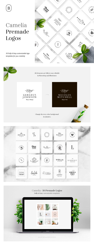 Camelia - 50 Premium Logo Templates ~ Logo Templates ~ Creative Market