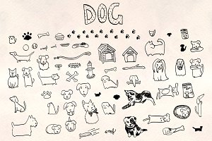 60+ Puppy Dog Vector Graphics Bundle